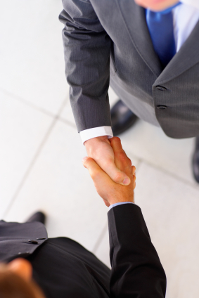 Business shakehand
